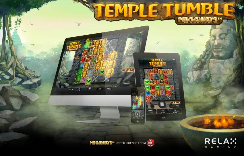 Temple Tumble Megaways Relax Gaming Poster