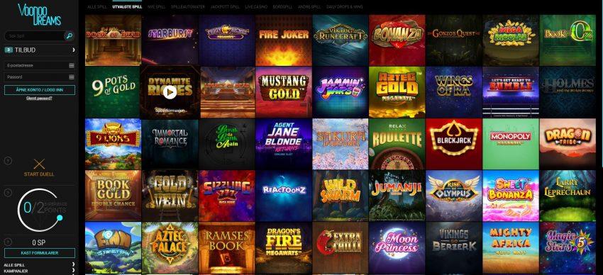 VoodooDreams Casino Spill