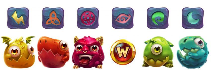 Wild Cauldron Quickspin Symbols