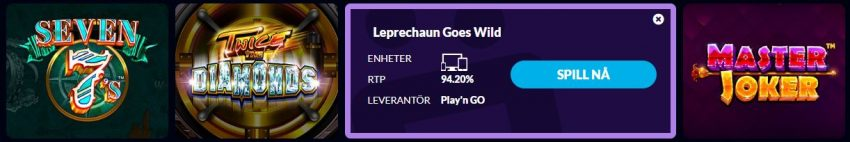 Wild Jackpots Informasjon