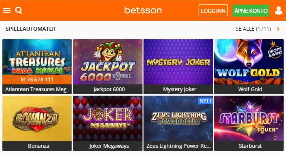 Betsson casino spill