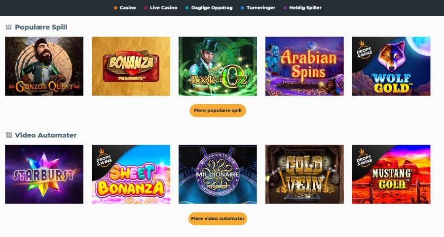 boss casino spill