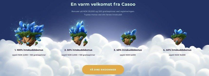 casoo velkomstbonus promo