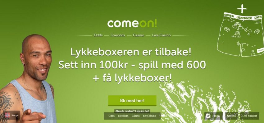 Comeon Lykkeboxer Banner