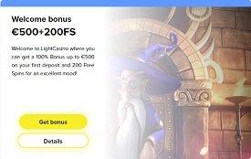 light casino bonus
