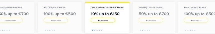 light casino bonuser