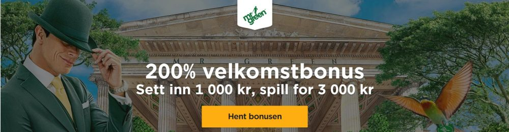 mr green velkomstbonus