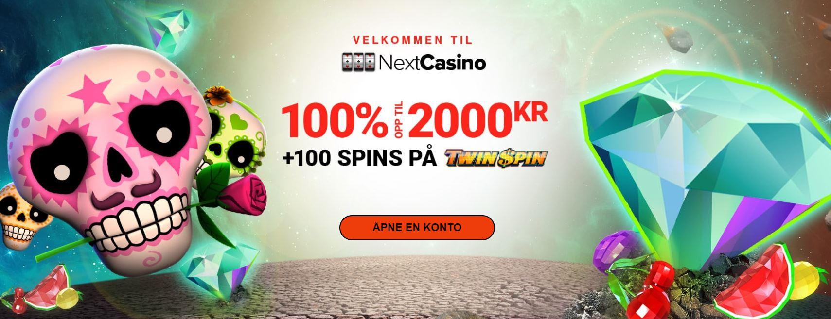 next casino velkomst