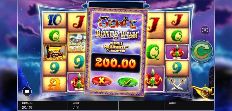 Genie Jackpots MegaWays feature buy
