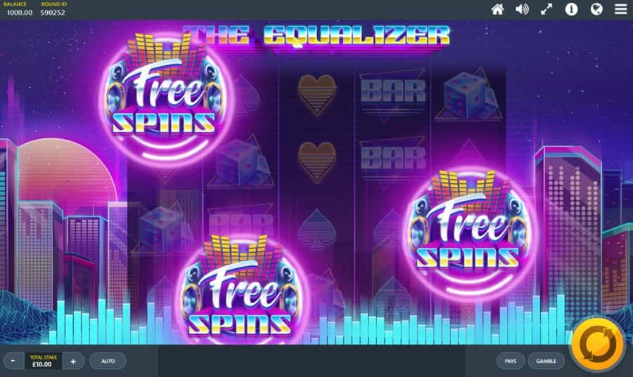 The equalizer free spins