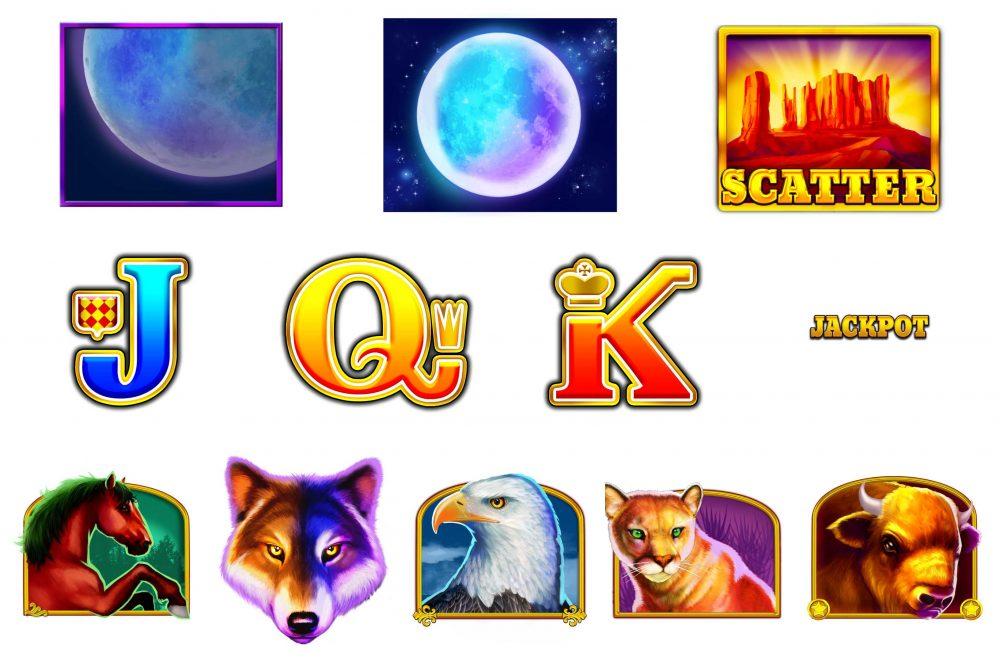 wolf gold symboler