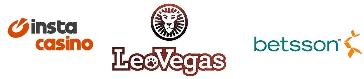 Insta Casino, Leo Vegas, og Betsso